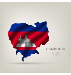 flag of Cambodia as a country vector image