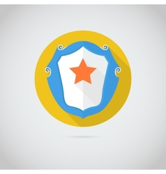Flat icon with red star vector image