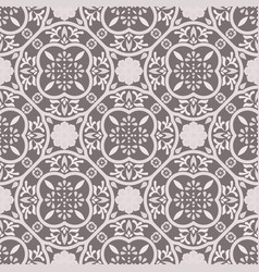 floor tiles ornament gray pattern print vector image