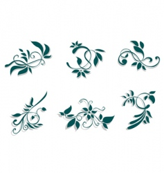 flourish decorations vector image