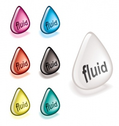 fluid droplet vector image