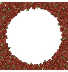 Frame with red roses vector