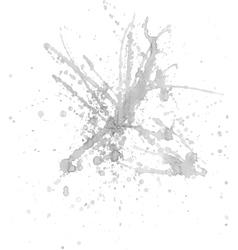 Gray ink splash vector image