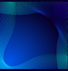 greeting card of blue lines on a blue background vector image