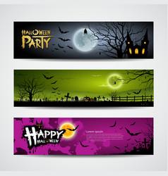 Halloween day banner vector
