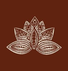 Henna lotus art Henna Lotus Mehndi vector