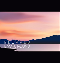 horizontal wide blurred mountain background vector image