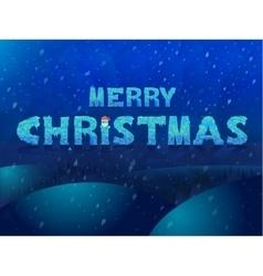 Ice inscription Merry Christmas Design for vector