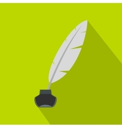 Ink with pen icon flat style vector