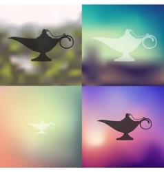 Lamp icon on blurred background vector