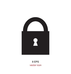 Lock black and white icon vector