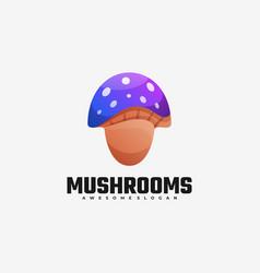 logo mushroom gradient colorful style vector image