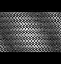 Metal perforated background round holes vector