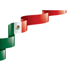 Mexican flag on a white vector