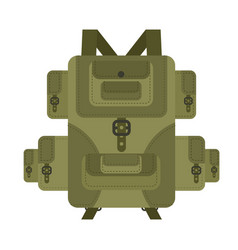 military backpack green isolated soldier vector image