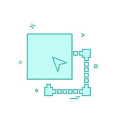 minimize window icon design vector image