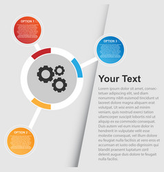 multi option infographic background image vector image