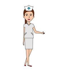 Nurse professional woman of health vector