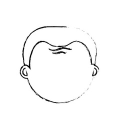 Old man face with hairstyle vector