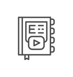 online book learning line icon vector image