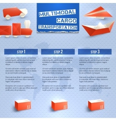 Origami Logistic Infographics vector image