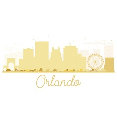 Orlando City skyline golden silhouette vector image