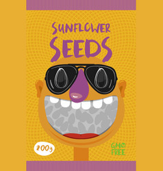 packing for sunflower seeds vector image