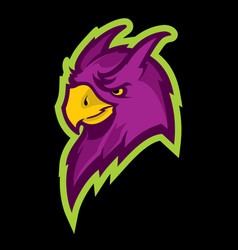Parrot head sport mascot vector