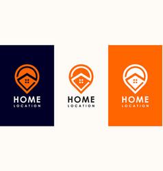 pin home logo design vector image