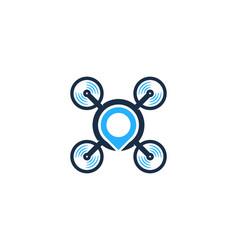 point drone logo icon design vector image