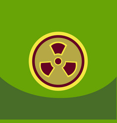 radiation icon may present radiation threat or vector image