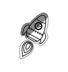 Rocket spaceship cartoon vector