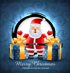 santa clais with gifts vector image