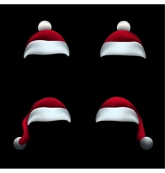 Santa hat black background vector image