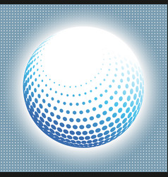 set abstract halftone 3d spheres 14 vector image