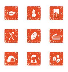 sucrose icons set grunge style vector image