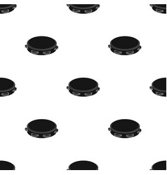 Tambourine icon in black style isolated on white vector