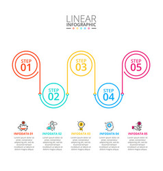 thin line flat element for infographic template vector image