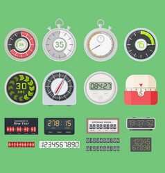 timer clocks watch symbol hour stopwatch vector image