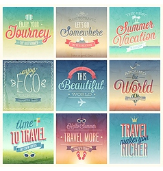 travel set vintage vector image