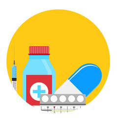 treatment of influenza app icon vector image