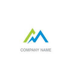 triangle line abstract mountain logo vector image