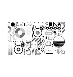 universal trend halftone geometric shapes set vector image