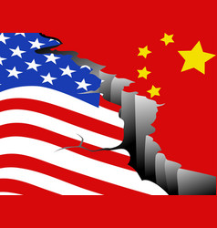 usa and china economic war vector image