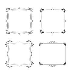 Vintage frames decoration vector image
