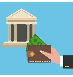 Wallet bank and shopping design vector