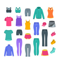 women casual clothes for gym fitness training vector image