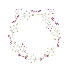 wreath perfect for invitations greeting cards vector image