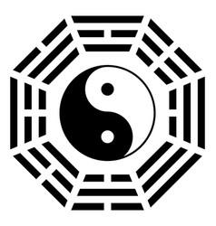 Ying yang symbol harmony and balance vector
