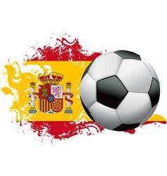 Spain Soccer Grunge Design vector image